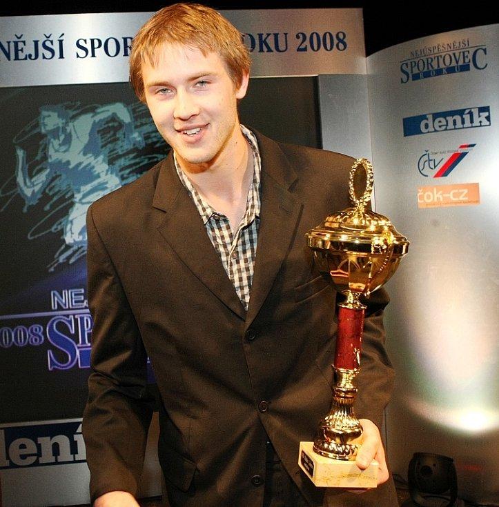 """Vyhlášení ankety """"Sportovec Libereckého kraje 2008"""" v divadle F. X. Šaldy. VK Dukla Liberec - volejbal."""