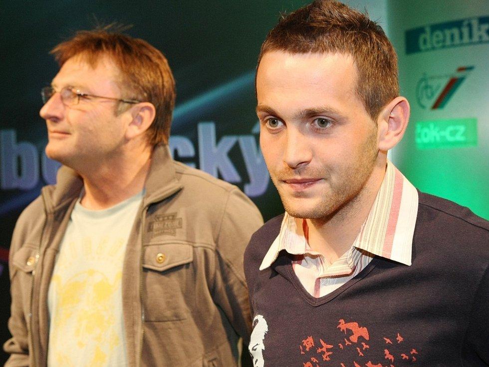 """Vyhlášení ankety """"Sportovec Libereckého kraje 2008"""" v divadle F. X. Šaldy. FC Slovan Liberec (fotbal)."""