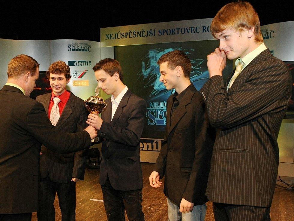 "Vyhlášení ankety ""Sportovec Libereckého kraje 2008"" v divadle F. X. Šaldy. AC Syner Turnov."