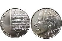 Pamětní stříbrnou dvousetkorunu, jejímž tématem bude 150. výročí narození jednoho z nejvýznamnějších českých hudebních skladatelů, Gustava Mahlera.