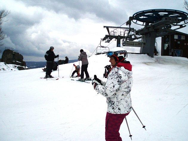 Ilustrační snímek ze zimního Tanvaldského Špičáku