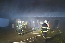 Požár klubovny v Jilemnici.