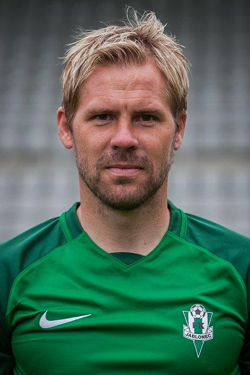 Obránce Tomáš Hübschman, hráč FK Jablonec na snímku z 25. července.