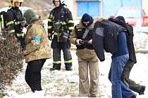 Zatčení policisty ve Velkých Hamrech