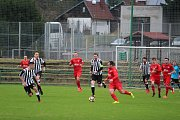 Divize: Mšeno A - Admira Praha 4:1 (2:1). Mšeno – červené dresy.