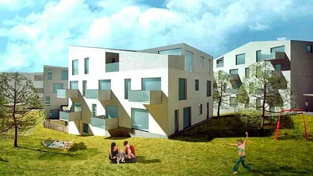 Vizualizace nových bytových domů na Výšince.