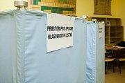 První den prvního kola volby prezidenta České republiky v Jablonci nad Nisou. Snímek je z 12. ledna.