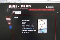 Strana webu Pavla Onodiho s kontakty pro zájemce o nabízené fotografie.