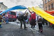 Tradiční masopustní průvod masek proběhl 4. února v Semilech. Akci odstartoval průvod maškar z Komenského náměstí k radnici.