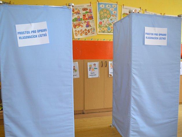 9. října ve 14hodin začaly volby do zastupitelstev měst a obcí. Přípravy ve volebních místnostech vZŠ Sokolí vJablonci. Okrsek č. 5, 6, 7.