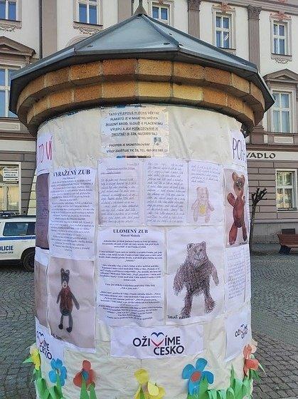 Pohádková kniha s medvídkem Vildou.