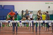 Atletický mítink Jablonecká hala 2018 proběhl 20. ledna v Jablonci nad Nisou. Na snímku zleva Lucie Koudelová a Kateřina Cachová při disciplině 60 M překážek ženy.