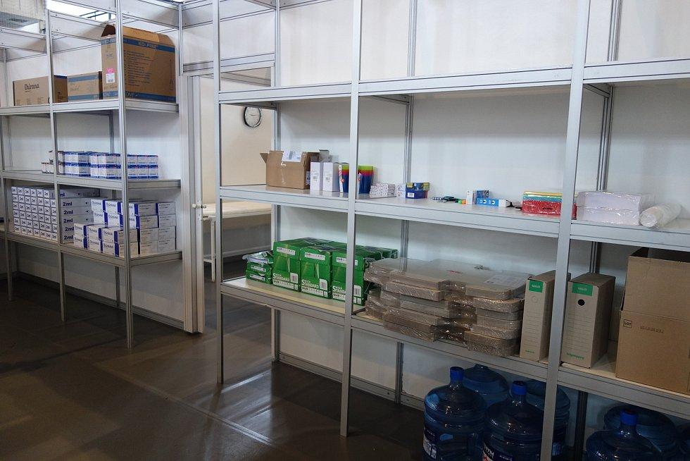 Připravené očkovací centrum v Jablonci nad Nisou