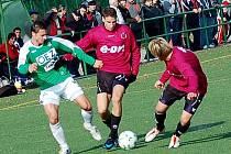 Lukáš Fujerik v zápase s SK Dynamo České Budějovice B