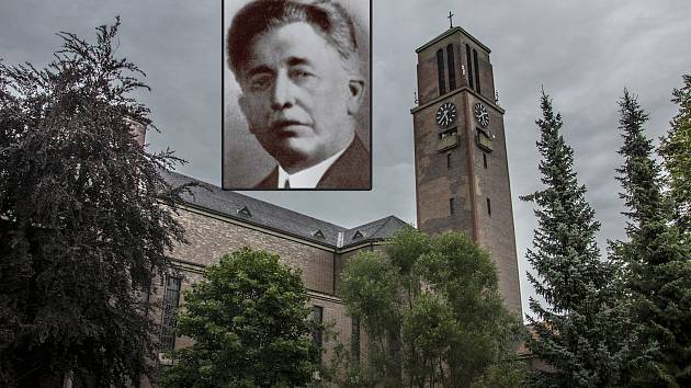 Josef Zasche projektoval kostel Nejsvětějšího Srdce Ježíšova na Horním náměstí.