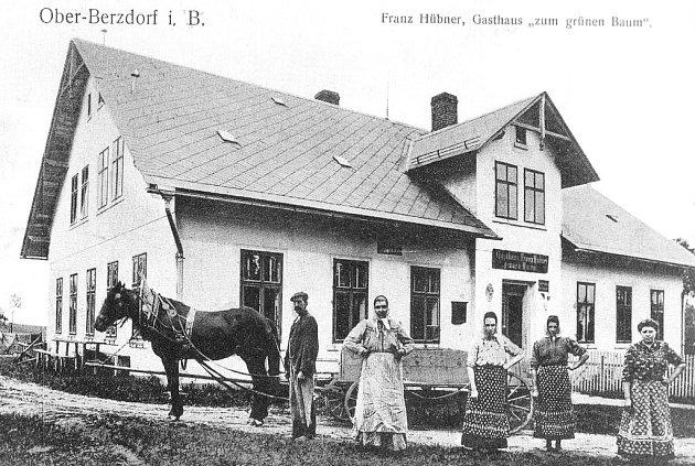 Dobové fotografie hospod v Libereckém kraji. Horní Suchá.
