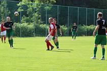 V posledním utkání I. B třídy se domácí Albrechtice potýkaly s nedostatkem hráčů. Zaslouženě vyhráli hosté z Lučan.