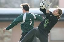 Velké Hamry (v zeleném) porazily v prvním kole poháru Fincentrum Jablonec nad Jizerou 1:0.