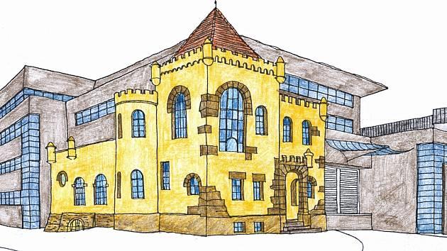 Studie architekta Libora Sommera. Počítala i se začleněním velké části zámečku do moderního výrobního objektu