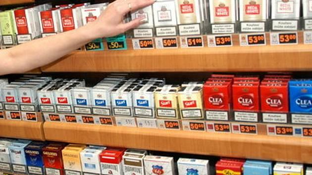 Krádež cigaret. Ilustrační snímek.