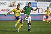 FK Jablonec - Fastav Zlín 2:0. O napínavé okamžiky nebyla nouze, bývalému hráči Tomáši Čížkovi se zápas líbil.