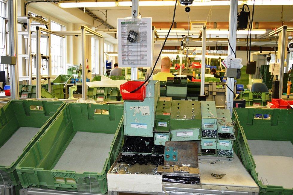 Výrobní a výuční prostory Věznice Rýnovice.