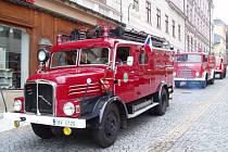 Oslavy 150. výročí dobrovolného hasičstva na Mírovém náměstí v Jablonci.