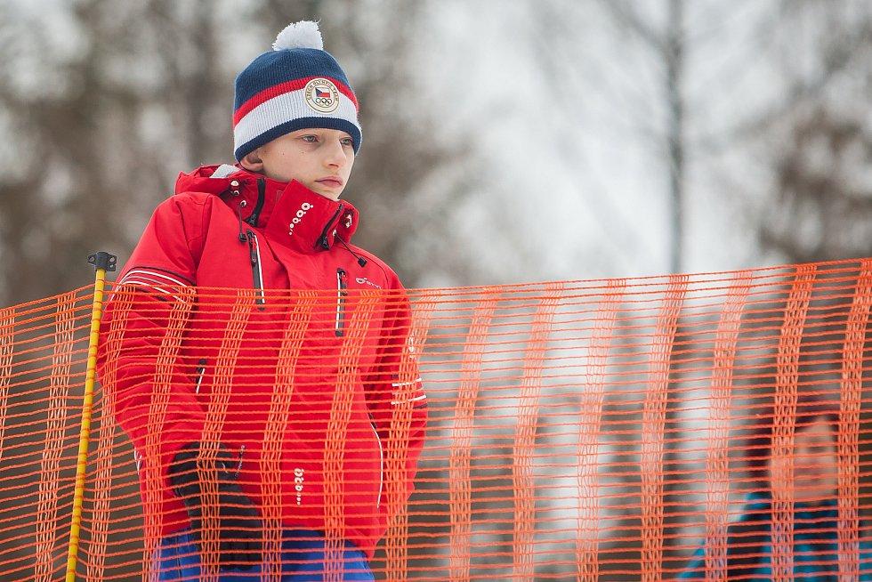 Exhibiční Mistrovství České republiky v biatlonovém supersprintu proběhlo 23. března ve sportovním areálu Břízky v Jablonci nad Nisou. Na snímku je biatlonový fanoušek.