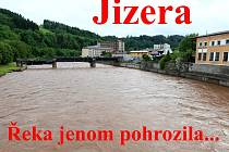 V Železném Brodě JIzera kulminovala na 330 centimetrech v noci ze soboty na neděli.