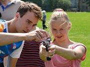 Za dětmi přijel moderní pětibojař Jan Kuf