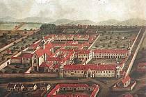 Kartuziánský klášter v Králově Poli měl podle dobových obrazů také velmi krásné zahrady.