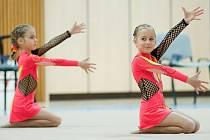 V Městské sportovní hale v Jablonci se konaly závody v moderní gymnastice.