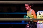 Galavečer bojových sportů, Iron Night Fight 3, proběhl 22. února v městské hale v Jablonci nad Nisou. Na snímku je Hiba Hosny z Německa v kategorii světový titul WKU do 52 kilogramů.