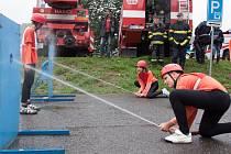 SDH Těpeře při požárním útoku.