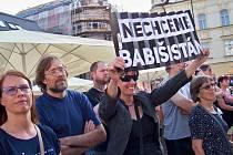 Demonstrace v Jablonci nad Nisou se zúčastnilo necelých šest set lidí.