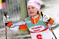 Osmiletá Martina Pažoutová z Jablonce spadla, avšak nevzdala se a 500 metrů dlouhou trať dojela.