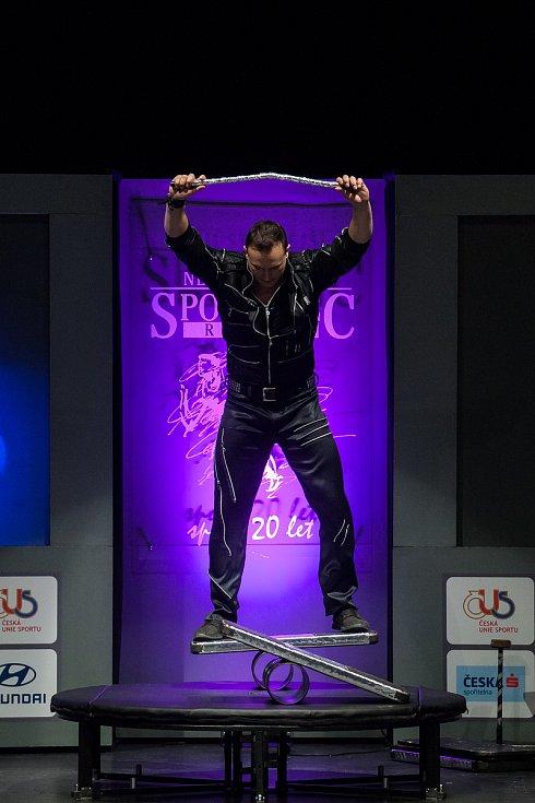 Slavnostní vyhlášení ankety Nejúspěšnější sportovec Jablonecka za rok 2017 proběhlo 29. ledna v Městském divadle v Jablonci nad Nisou. Na snímku je doprovodné artistické vystoupení.
