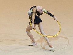 Moderní gymnastky v Jablonci závodily v Oblastním přeboru základního a volného programu a Severočeské lize.