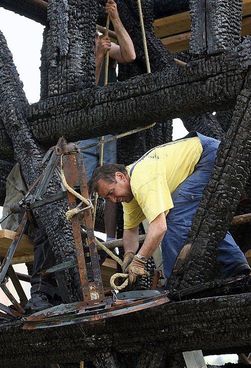 Vyhořelá zvonice, 2008.