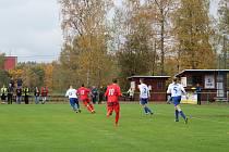 Mšeno - Trutnov 1:1. Mšeno - červené dresy.