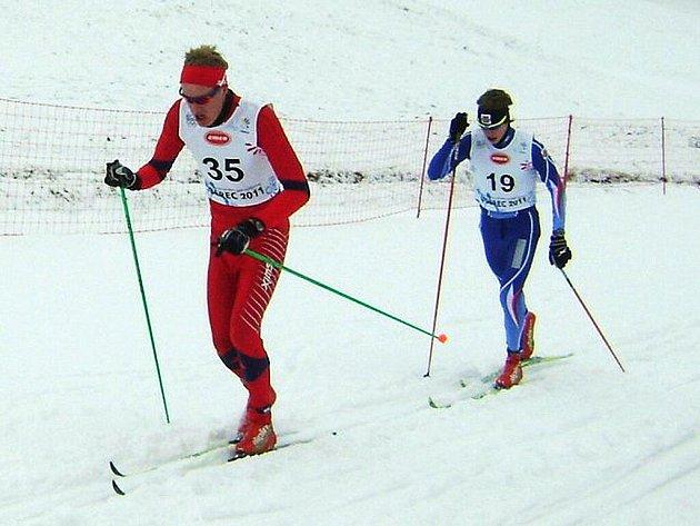 10. Zimní evropský olympijský festival mládeže 2011. Závod chlapců na 10 km klasickou technikou ve Vesci. Jablonecký závodník Petr Knop s č. 19 skončil v závodě na 16. místě.