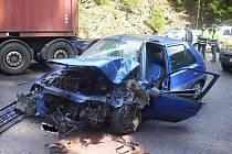Nehoda nastěstí skončila vcelku dobře.
