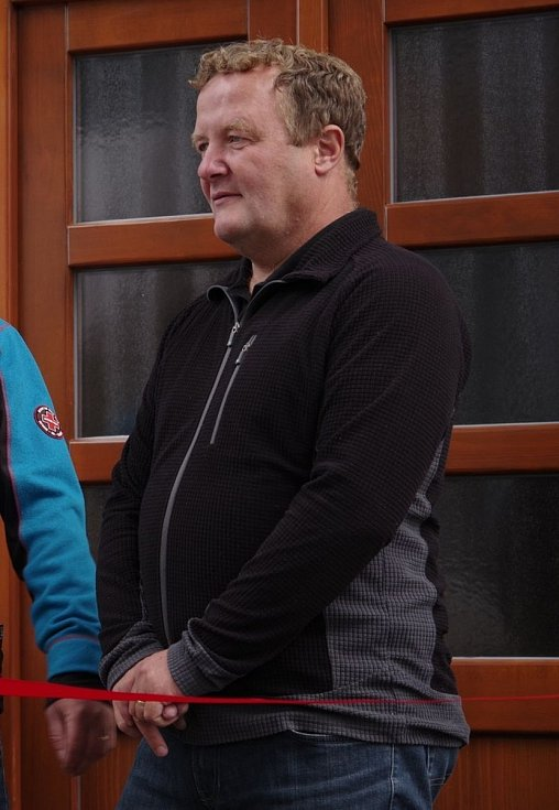 Josef Slavík otevírá Ski Museum Harrachov.