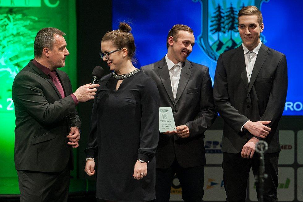 Slavnostní vyhlášení ankety Nejúspěšnější sportovec Jablonecka za rok 2017 proběhlo 29. ledna v Městském divadle v Jablonci nad Nisou. Na snímku druhá zleva Karolína Hornická.