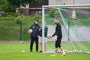 Trénink mužstva FK Jablonec pořádaný v rámci mediálního dne před zahájením sezony proběhl 25. července v Jablonci nad Nisou. Na snímku brankář Vlastimil Hrubý.