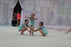 Nejmenší jablonecké gymnastky pod vedením trenérky Šárky Chovancové.