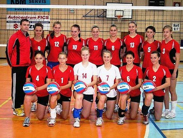 Juniorky Bižuterie Jablonec - volejbal.