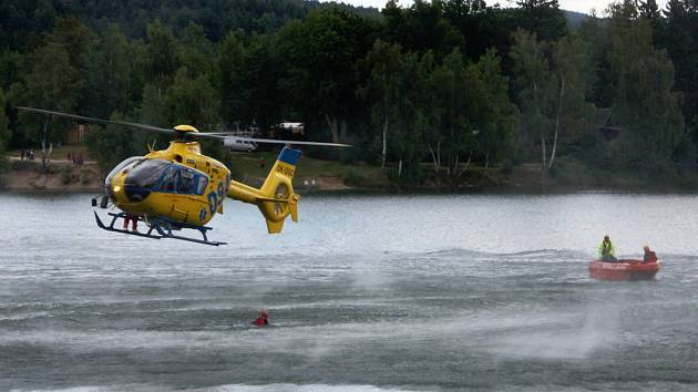 Zásah Letecké záchranné služby ZZS LK