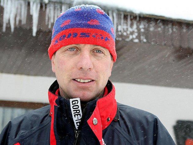 Náčelník Horské služby Jizerské hory René Mašín.