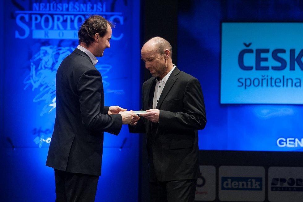 Slavnostní vyhlášení ankety Nejúspěšnější sportovec Jablonecka za rok 2017 proběhlo 29. ledna v Městském divadle v Jablonci nad Nisou. Na snímku vpravo je Jan Matouš.